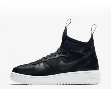 Nike Wmns Air Force 1 Ultraforce Mid Black White Womens Shoes 864025-001