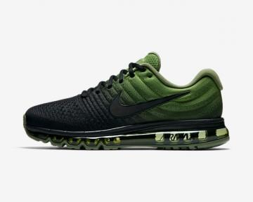 Nike Air Max 2017 Black Palm Green Mens Running Shoes 849559-006