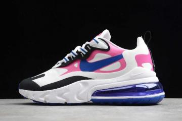 2020 WMNS Nike Air Max 270 React Summit White Hyper Blue Cosmic Fuchsia CI3899 100