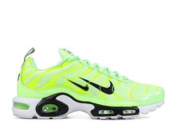 Nike Air Max Plus Premium Overbranding - Lime Blast White Black 815994-300