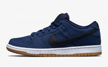 Nike SB Dunk Low Pro ISO Midnight Navy Gum White CW7463-401