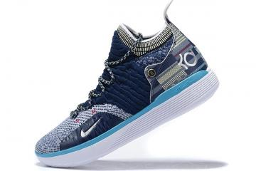 2019 Nike KD 11 BHM Blue Void Black Squadron Blue BQ6245 400