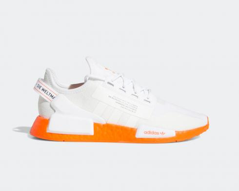 Adidas NMD R1 V2 Cloud White Solar Red FX3902