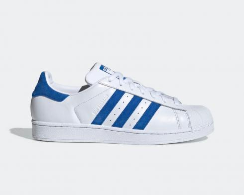 Adidas Originals Superstar Cloud White Blue Shoes EE4474