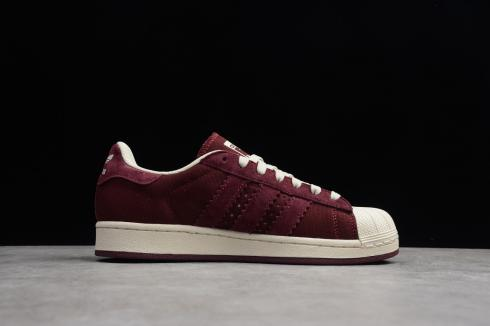 Adidas Originals Superstar Cloud White Wine Red Shoes BD8068
