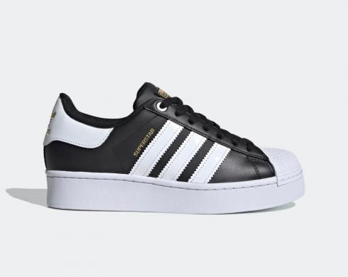 Adidas Superstar Bold Black Cloud White Shoes FV3335