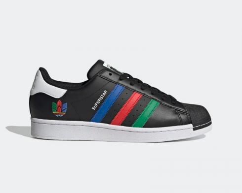 Adidas Superstar Core Black Green Cloud White Shoes FU9520