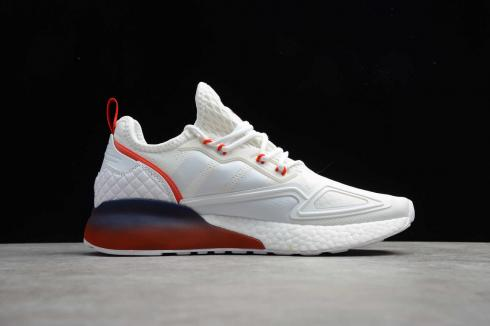 Adidas ZX 2K Boost Cloud White Red Midnight Shoes FZ44640