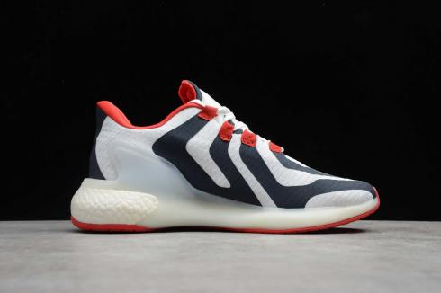 Adidas Alphabounce Beyond Cloud White Blue Red Running Shoes CG3813