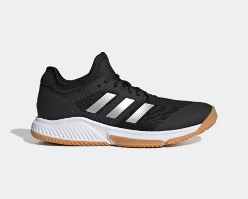 Adidas Court Team Bounce Core Black Silver Metallic Cloud White EF2638