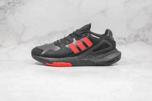 Adidas Day Jogger Boost Core Black University Red Shoes FW4820