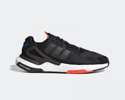Adidas Day Jogger Core Black Night Brown Semi Solar Red FW4818