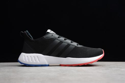 Adidas Grand Court Core Black Red Blue Cloud White Shoes EH0836