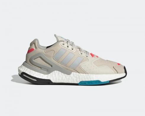 Adidas Originals Day Jogger Bliss Grey Two Signal Pink Running Shoes FW4826