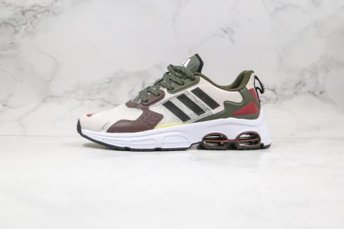 Adidas QUADCUBE Beige Army Green Brown Running Shoes FG7174