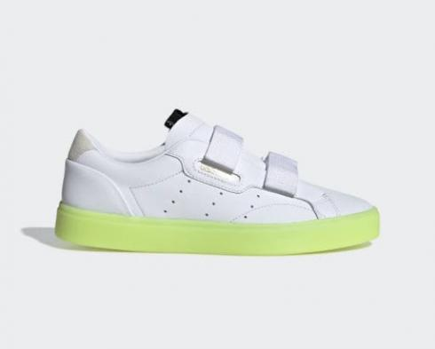 Adidas Wmns Sleek Straps Hi-Res Yellow Cloud White Shoes EE8279