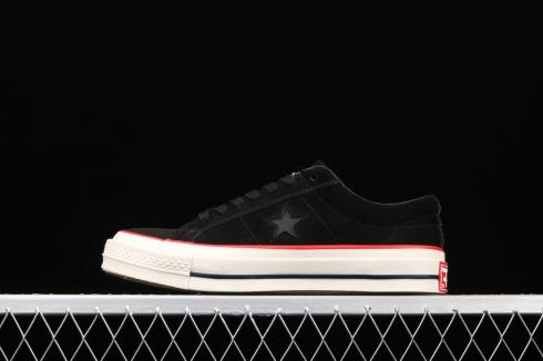 Converse One Star Suede Low Black University Red Sail 158479C