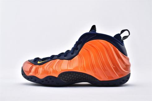 2020 New Nike Air Foamposite Pro Orange Blue Basketball Shoes CJ0325-405