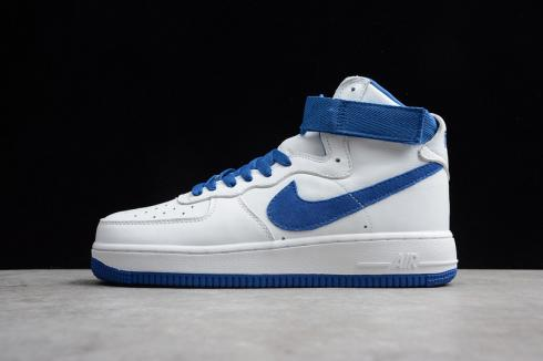 Nike Air Force 1 High Summit White Game Royal Mens Shoes 743556-103