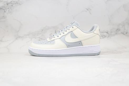 2020 Nike Air Force 1 Low White Grey Running Shoes AQ4134-405