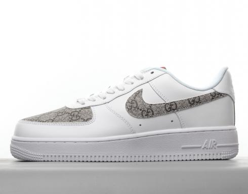 Gucci x Nike Air Force 1 07 Low Masculino Mulheres White GC5368-100