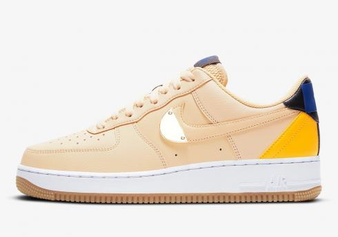 NBA x Nike Air Force 1 07 LV8 Sesame University Gold Blue CT2298-200