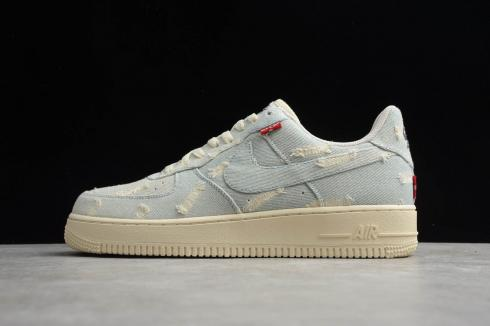 Nike Air Force 1'07 Low Denim Beige Blue AF1 Casual Shoes 315122-112