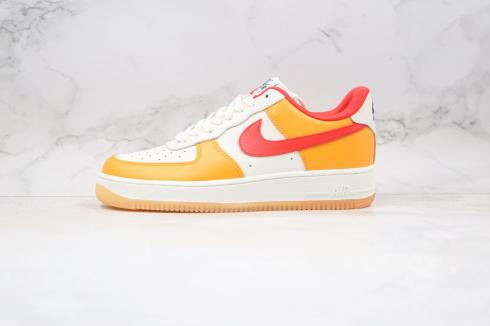 Nike Air Force 1 07 Low White Yellow Hi-Red Red Running Shoes DC1403-001