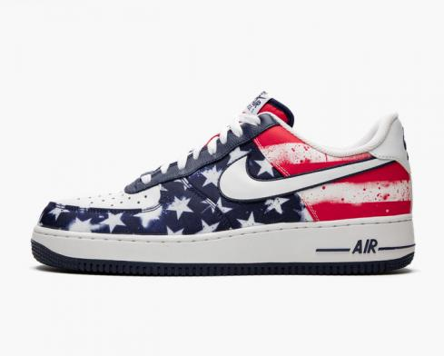 Nike Air Force 1 Independence Day 2014 Midnight Navy White University Red 488298-425
