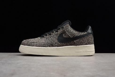 Nike Air Force 1 Low Animal Print Black White Shoes 898889-002