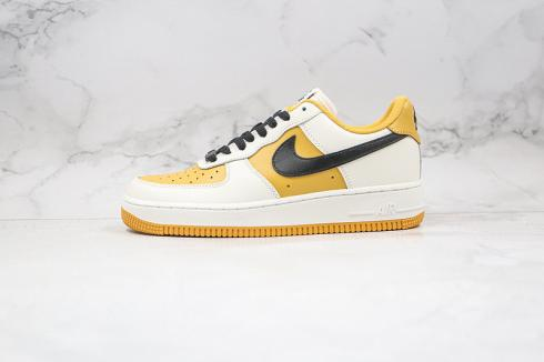 Nike Air Force 1 Low Cloud White Yellow Black Running Shoes AQ4134-604