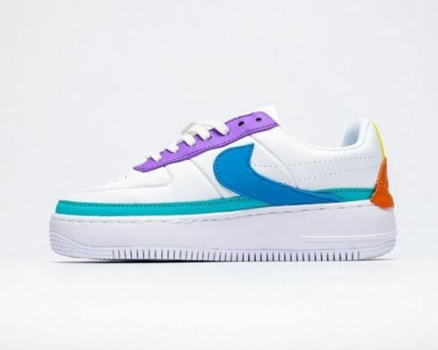 Nike Air Force 1 Low Shadow White Purple Green Shoes AO1222-200