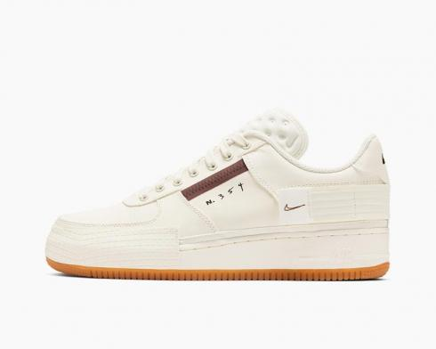 Nike Air Force 1 Low Type Sail Gum Running Shoes CJ1281-100