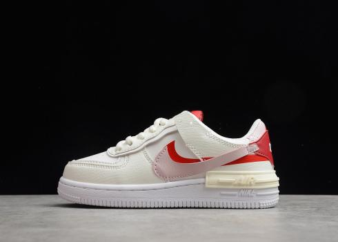 Nike Air Force 1 Shadow SE Beige Pink Red AQ4211-106 for Kid