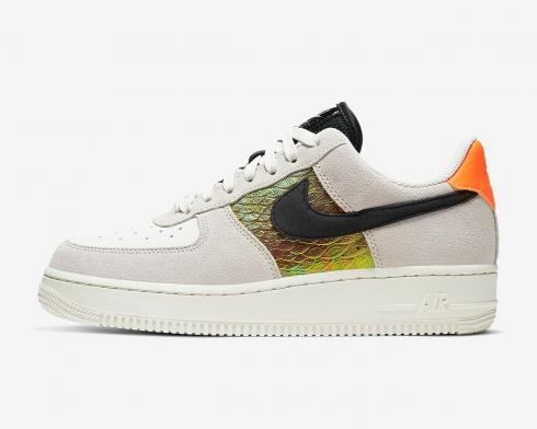 Nike Wmns Air Force 1 Low Iridescent Snakeskin Hyper Crimson Black CW2657-001
