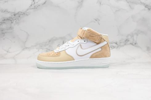 Nike Air Force 1 07 Mid Summit White Brown Shoes AO2425-201