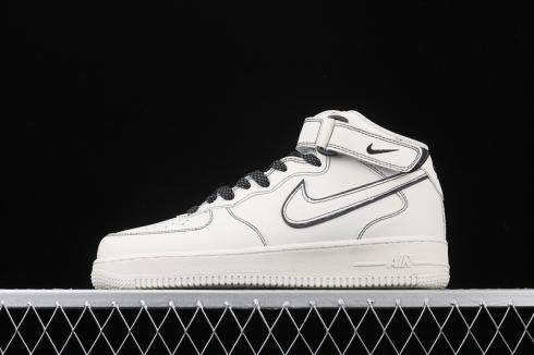Nike Air Force 1 07 Mid White Black Running Shoes AA1118-011