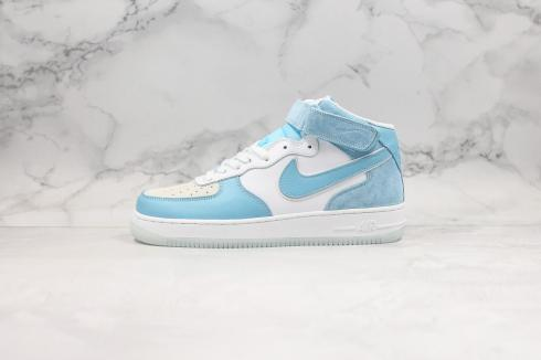 Nike Air Force 1 Mid 07 Blue White Running Shoes AO2425-401