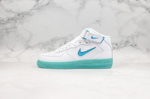 Nike Air Force 1 Mid 07 Summit White Blue Shoes AT3293-609
