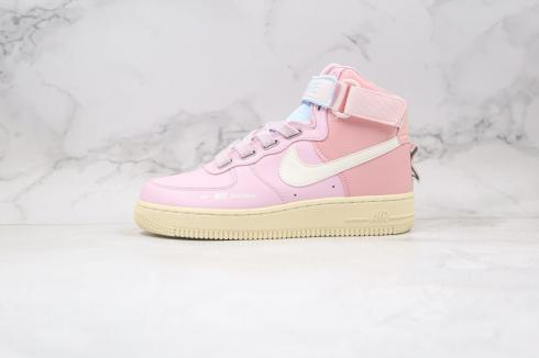 Nike Air Force 1 Mid Light Pink White Blue Running Shoes CQ4810-627