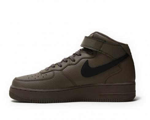 Nike Air Force 1 Mid Ridgerock Black Mens Running Shoes 315123-205