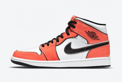 Air Jordan 1 Mid SE Turf Orange Black White Shoes DD6834-802