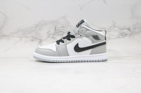 Nike Air Jordan 1 Retro Mid Light Smoke Grey Black White AJ1 Basketball Shoes K554725-092