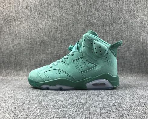 Air Jordan 6 VI Retro Green White Mens Basketball Shoes CT4594-114