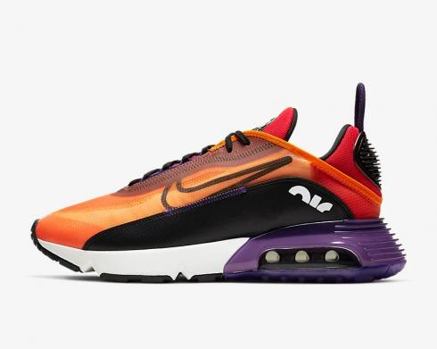 Nike Air Max 2090 Magma Orange Black Eggplant Habanero Red BV9977-800