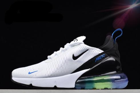 Nike Air Max 270 Flyknit White Royal Blue Casual Running Shoes AR0344-100