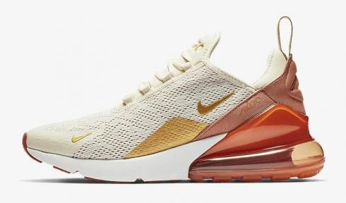 nike air max 270 white and gold
