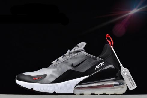 Nike Air Max 270 Wolf Grey Black Red Running Shoes AQ8050-003