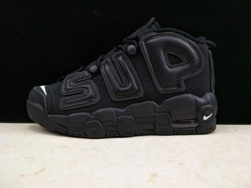 Supreme X Nike Air Pippen Nike Air More Uptempo Triple Black 415028-001