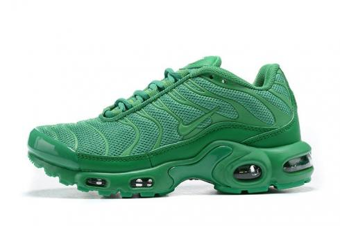 2020 New Nike Air Max Plus TN All Green Comfy Running Shoes 852630-044